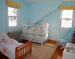 Mia and Nick's Shared Nursery eclectic-kids