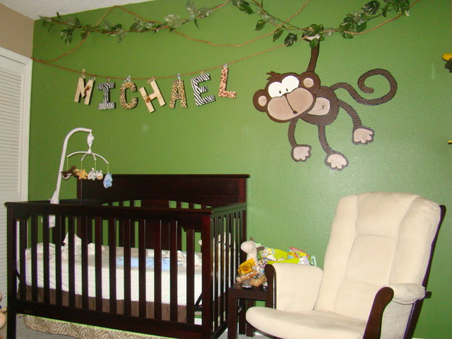 Michaels Jungle Baby Room eclectic-kids