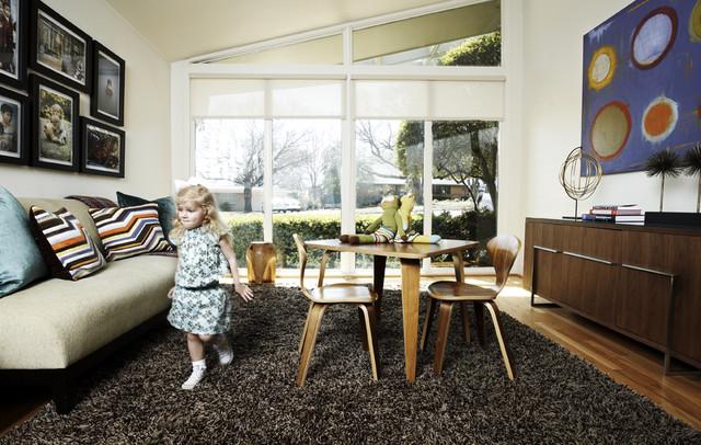 Mid-Century Modern Playroom midcentury-kids