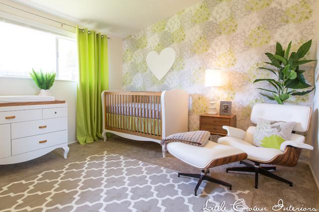 mid century modern nursery by little crown interiors midcentury