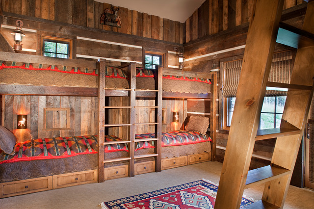 Mine Style Rustic Mountain Lodge - Rustic - Kids - other metro - by ...