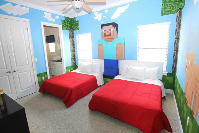 Minecraft Bedroom Sovremennyj Detskaya Orlando Ot Eksperta Florida Furniture Packages Houzz Rossiya