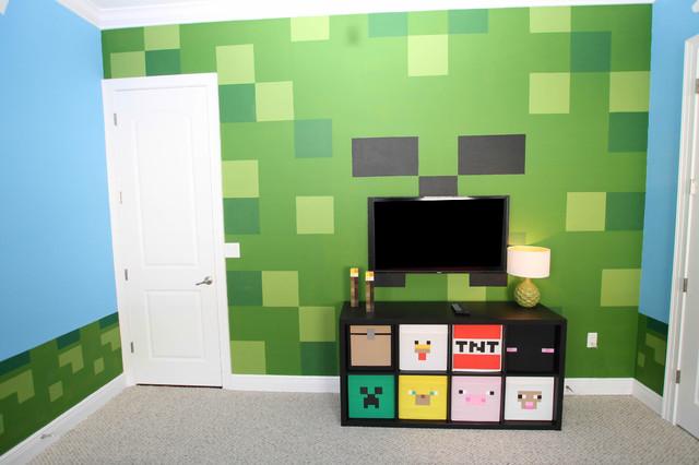 Minecraft bedroom for Minecraft kids room