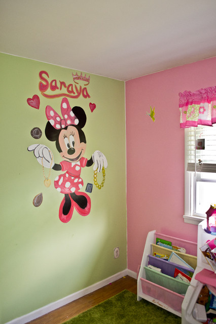 minnie mouse girls bedroom murals traditional kids