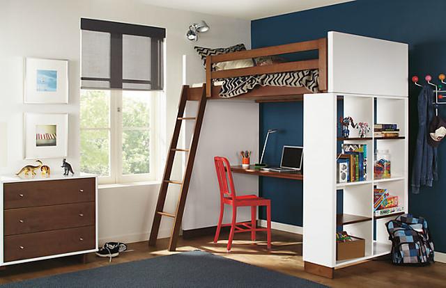 Кровать с рабочей зоной для подростка своими
