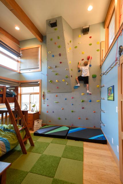 Modern Bend Oregon Home Kids Bedroom Contemporary Kids Design
