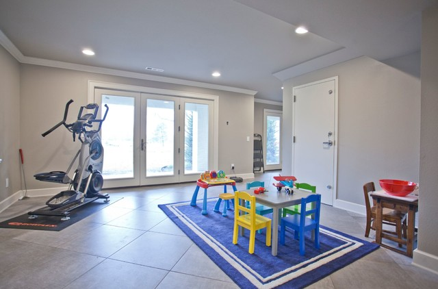 Transitional kids' room photo in Other