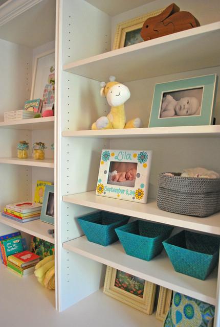 Modern Gray and Yellow Nursery modern-kids