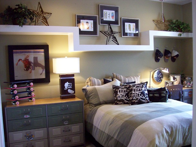 Model Home Teen Boy Bedroom modern-kids