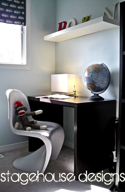 Modern kids room - homework space modern kids