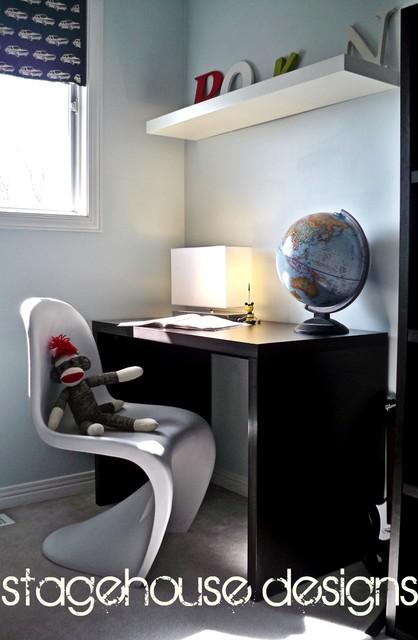 Modern kids room - homework space modern-kids