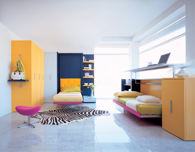 Modern kids room modern kids for Contemporary bedroom ideas for small rooms