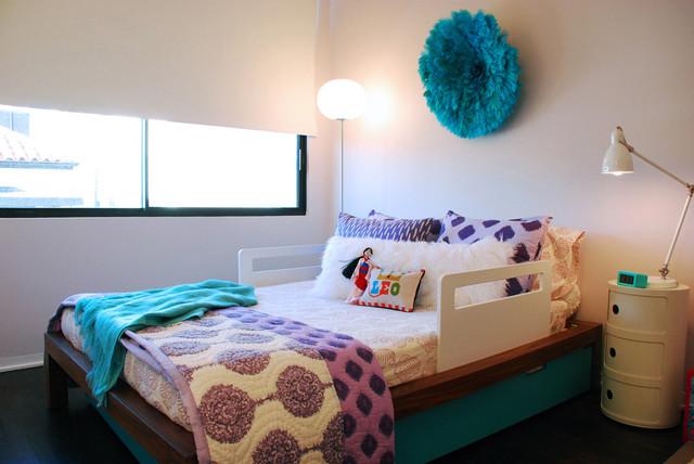 Modern Little Girls Room with an Ethnic Twist modern-kids