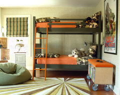 Modern Suburban Home eclectic-kids