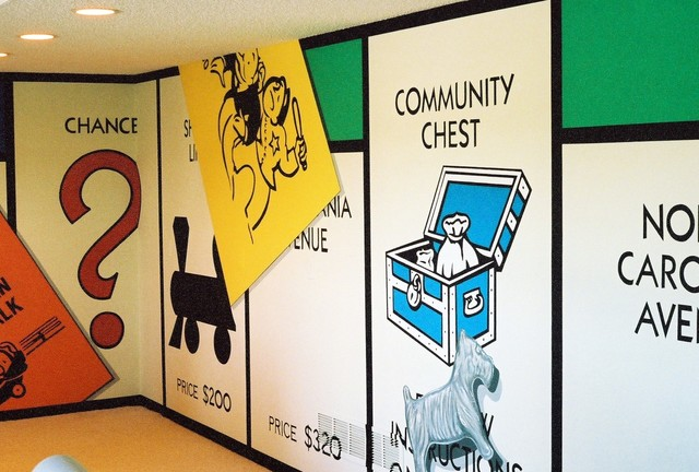 Monopoly Mural in Lower Level by Tom Taylor of Wow Effects ...