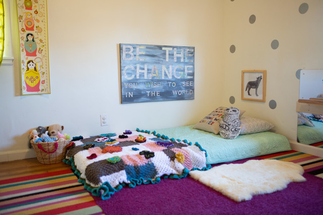 Montessori nursery eclectic kids san diego by for Montessori kids room