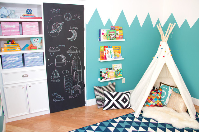 Mountains of fun playroom modern kids las vegas by design by numbers - Houzz kinderzimmer ...