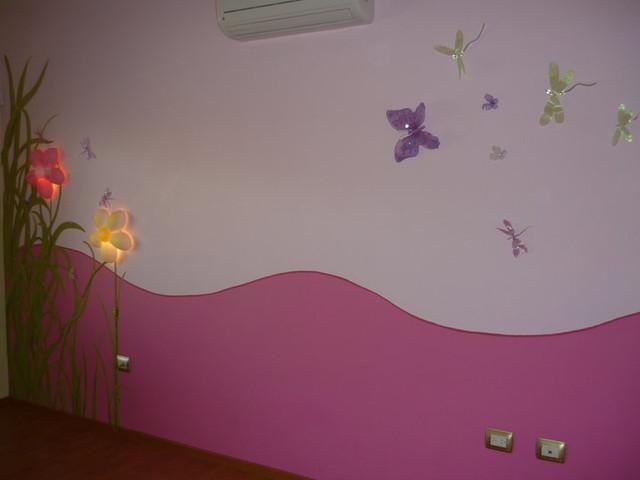 Mural decorativo para habitaci n de ni a contemporary for Como pintar un mural en una pared