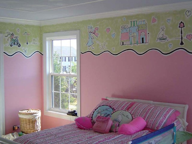 Murals and faux traditional-kids