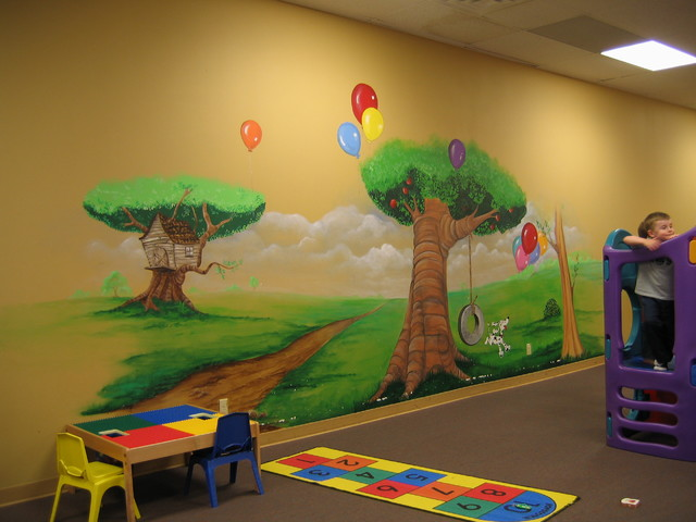 Murals commercial residential traditional kids for Commercial mural painting