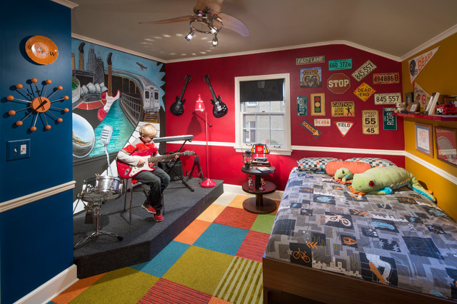 Musicians Bedroom Eclectic Kids Chicago By
