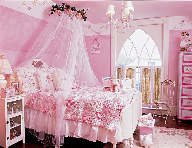 My daughter 39 s dream bedroom traditional kids new for Dream of painting a room white