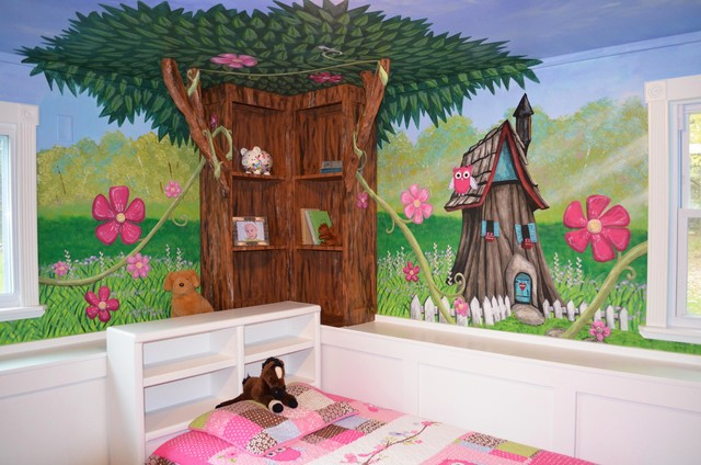my houzz an enchanted forest bedroom traditional kids