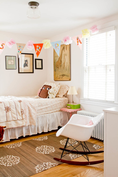 designing a kid's room with white