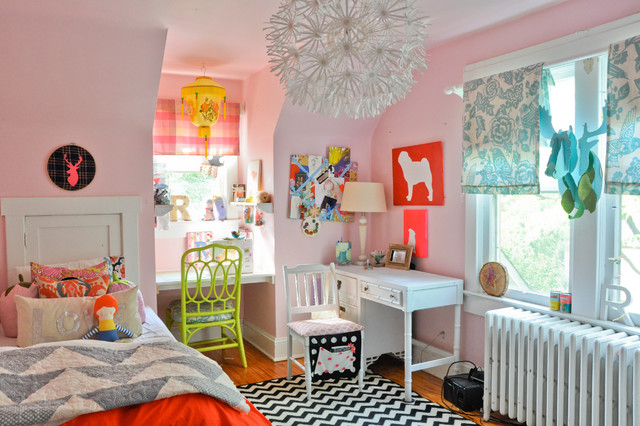 My Houzz: Craftiness and Color in Warrenton Equal Vintage Charm eclectic-kids