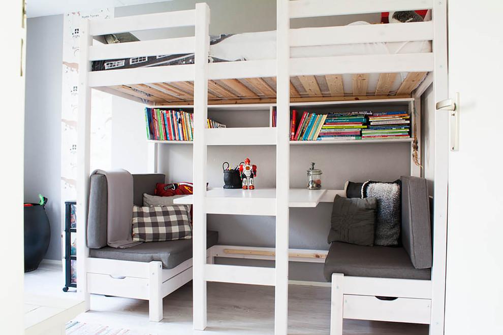 Example of a danish boy kids' bedroom design in Amsterdam