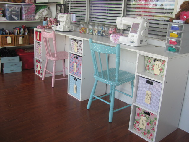 My Vintage Look Sewing Room Eclectic Kids
