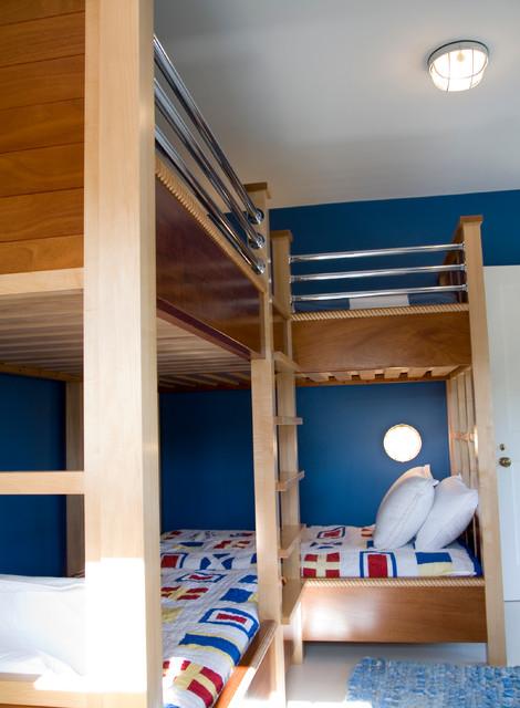 Nautical Double Bunk Beds Contemporary Kids Boston