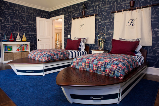 inspiring nautical themed bedroom ideas | Nautical Themed Boys' Room - Eclectic - Kids - Los Angeles ...