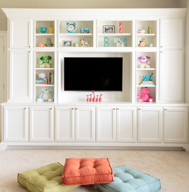 New Construction Game Room TV - Transitional - Kids - Houston - by Marker Girl Home