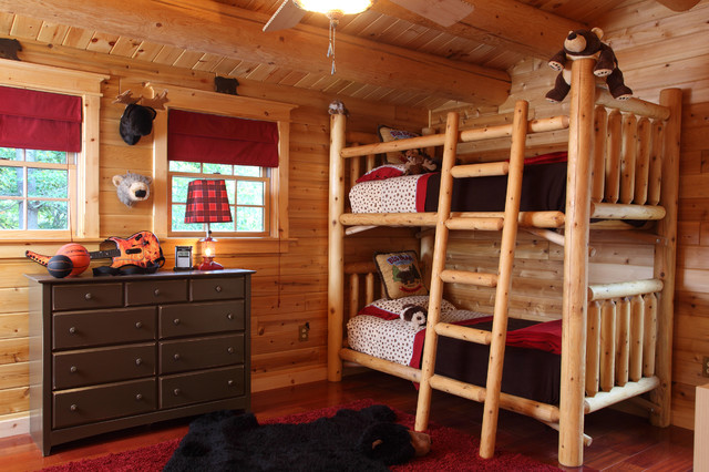 New hampsire log cabin rustic kids manchester nh for Log cabin style bunk beds