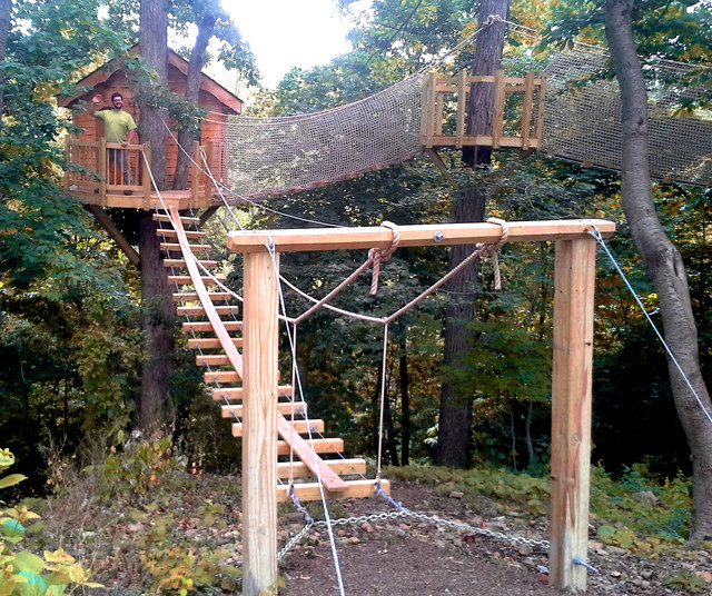 Newtown Square PA Rope Bridge Treehouse