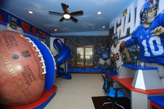 Nfl Giants Themed Room Traditional Kids Richmond By Poshtots