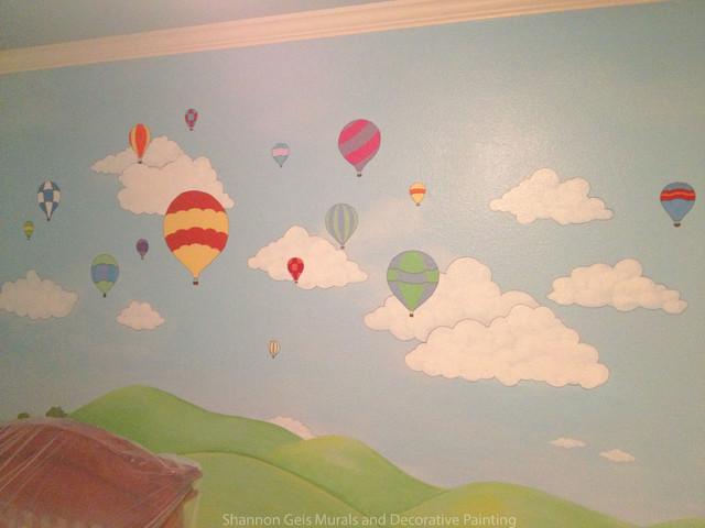 Nursery Mural Hot Air Balloon Festival Traditional