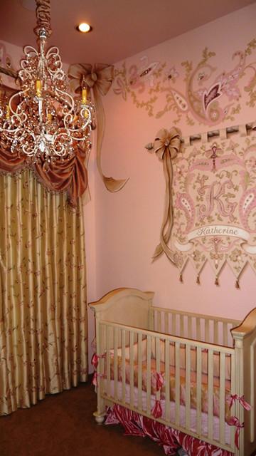 Princess nursery mediterranean kids phoenix by vm for Houzz kids room