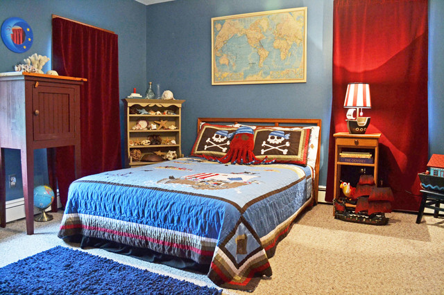 Ny interior design boy 39 s room pirate theme eclectic for Boys pirate bedroom ideas