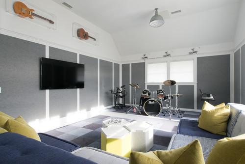 grey & green room color scheme