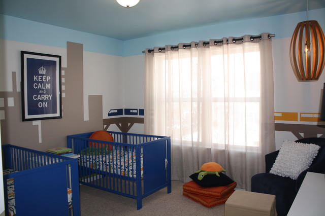 On the go twin boys room contemporary kids chicago for Rooms 4 kids chicago
