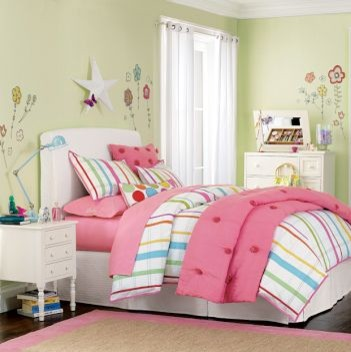 how to design a bedroom in a small space pbteen scattered flowers decals 21325