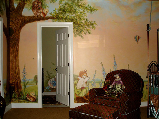 Peter Rabbit Mural Inspired By Beatrix Potter Eclectic Kids Atlanta By Visionary Mural Co