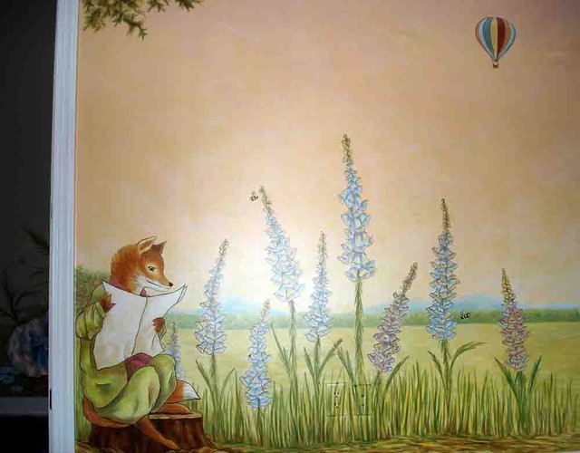 peter rabbit mural inspired by beatrix potter eclectic
