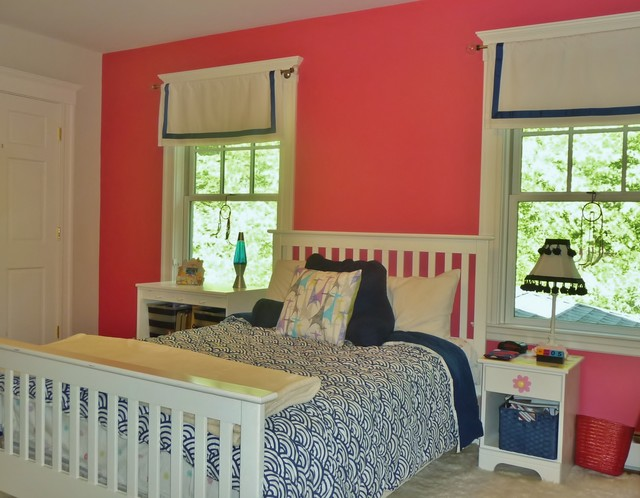 Pink & Blue Girls Bedroom - Eclectic - Kids - Boston - by ...