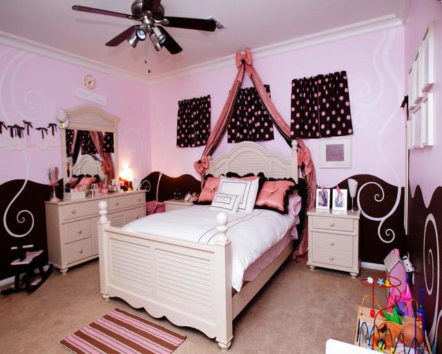 Pink and Brown Girl's Room kids