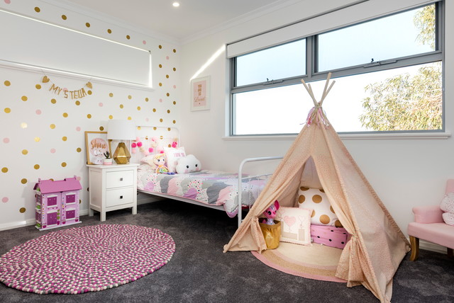 Contemporary Kids Perth Pink & Gold Girl's Room contemporary-kids