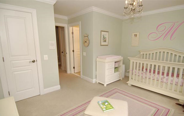 Lovely Pink And Green Nursery Traditional Kids Amazing Ideas