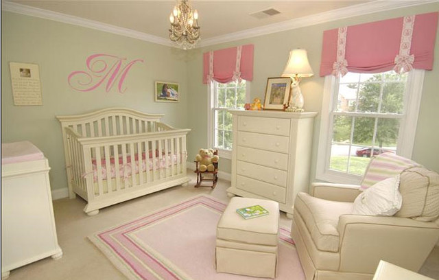 Pink And Green Nursery Kids Dallas By Maddie G